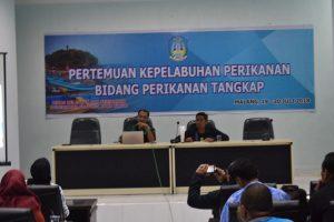 Pertemuan Kepelabuhanan Perikanan Bidang Tangkap Dinas Kelautan Dan Perikanan Provinsi Jawa Timur di UPT P2SKP Pondokdadap