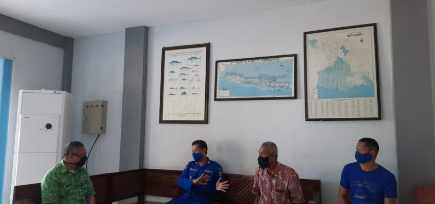 Koordinasi UPT PPP Pondokdadap dengan Satpolair Sendang Biru untuk Mempersiapkan Kawasan Pelabuhan Perikanan Tangguh dan Tanggap Menghadapi New Normal